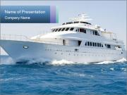 Luxury Yacht In Sea PowerPoint Template