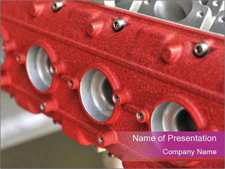Red Automobile Part PowerPoint Template