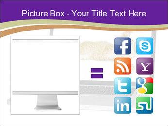 Cat Laptop Wallpaper PowerPoint Template - Slide 21