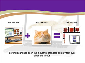 Cat Laptop Wallpaper PowerPoint Template - Slide 22