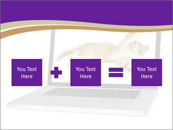 Cat Laptop Wallpaper PowerPoint Template - Slide 95