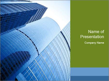 Glass Business Center PowerPoint Template
