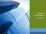 Glass Business Center PowerPoint Template