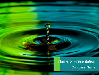 Drop Falling Into Water PowerPoint Template