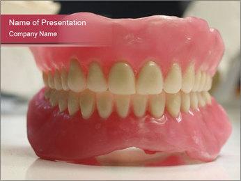 Teeth Model PowerPoint Template - Slide 1