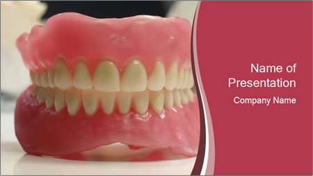 Teeth Model PowerPoint Template
