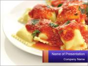 Well-Cooked Raviolli PowerPoint Template