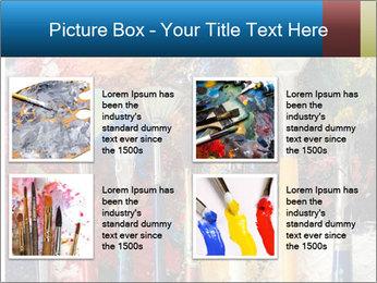 Artist's Brushes PowerPoint Template - Slide 14