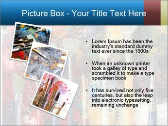 Artist's Brushes PowerPoint Template - Slide 17