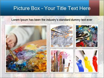 Artist's Brushes PowerPoint Template - Slide 19