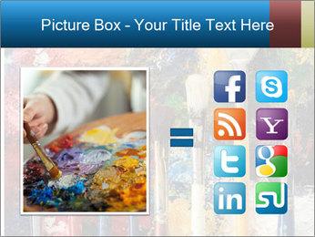 Artist's Brushes PowerPoint Template - Slide 21