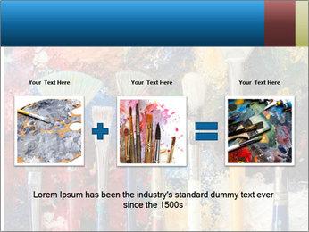 Artist's Brushes PowerPoint Template - Slide 22