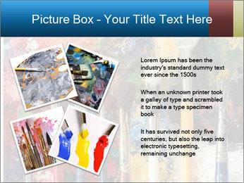 Artist's Brushes PowerPoint Template - Slide 23