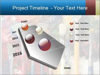 Artist's Brushes PowerPoint Template - Slide 26