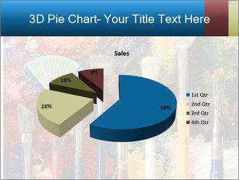 Artist's Brushes PowerPoint Template - Slide 35