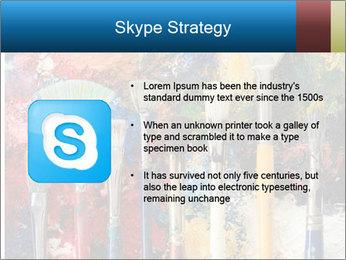 Artist's Brushes PowerPoint Template - Slide 8