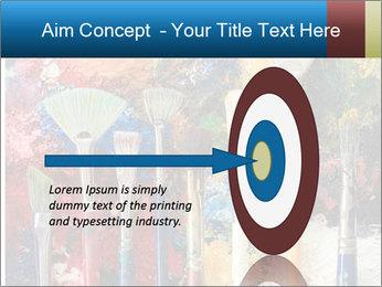 Artist's Brushes PowerPoint Template - Slide 83
