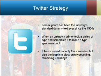 Artist's Brushes PowerPoint Template - Slide 9