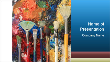 Artist's Brushes PowerPoint Template