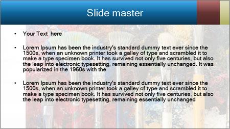 Artist's Brushes PowerPoint Template - Slide 2
