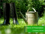 Watering Can PowerPoint Template