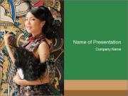 Oriental Woman PowerPoint Template