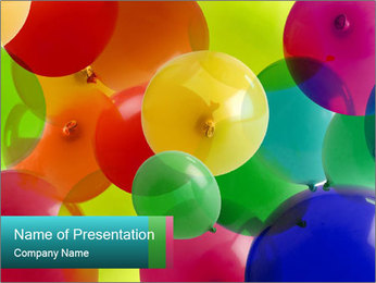 Birthday Decor PowerPoint Template - Slide 1