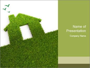 Ideal Grass House PowerPoint Template - Slide 1