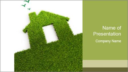 Ideal Grass House PowerPoint Template