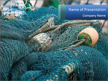 Fishing Net PowerPoint Template - Slide 1