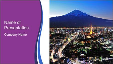 City In Jaapan PowerPoint Template