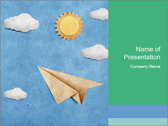 Paper Plane PowerPoint Template - Slide 1