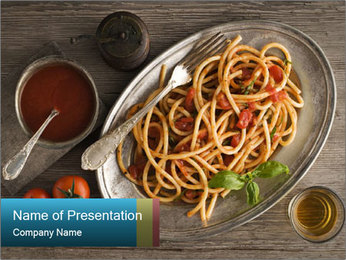Spicy Pasta PowerPoint Template - Slide 1