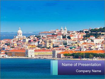 Lisbon City PowerPoint Template - Slide 1