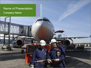 Airplane Industry PowerPoint Template - Slide 1