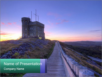 Sea Fortifications PowerPoint Template