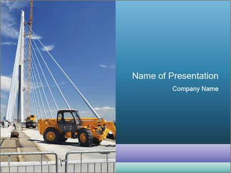 Bridge Construction Powerpoint Template Backgrounds Id 0000089660