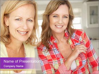 Best Female Friends PowerPoint Template - Slide 1