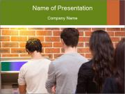 Line Of People PowerPoint Template
