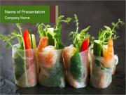 Spring Rolls PowerPoint Template