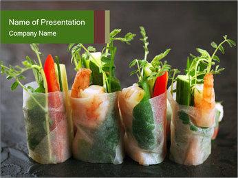 Spring Rolls PowerPoint Template - Slide 1