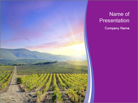 Beautiful Valley PowerPoint Template