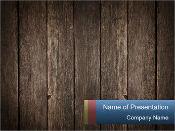Grunge Wooden Surface PowerPoint Template - Slide 1