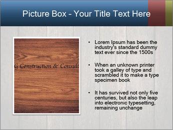 Grunge Wooden Surface PowerPoint Template - Slide 13