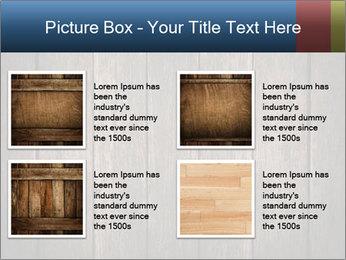 Grunge Wooden Surface PowerPoint Template - Slide 14