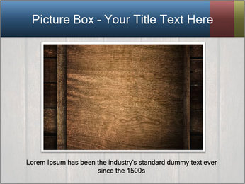 Grunge Wooden Surface PowerPoint Template - Slide 16