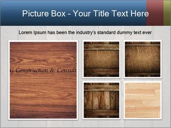 Grunge Wooden Surface PowerPoint Template - Slide 19
