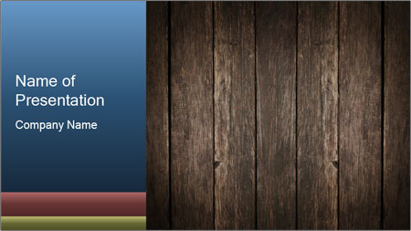 Grunge Wooden Surface PowerPoint Template