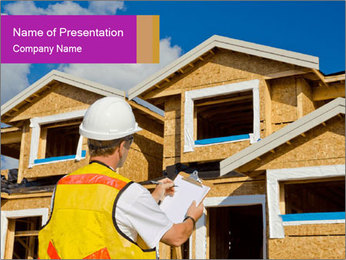 Finished House Construction PowerPoint Template - Slide 1