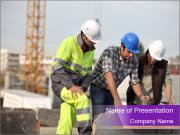 Three Laborers PowerPoint Template